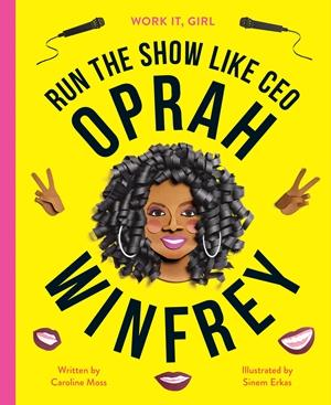Bright yellow cover of Oprah Winfrey book