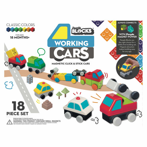 Kids blocks working cars toy for toddlers