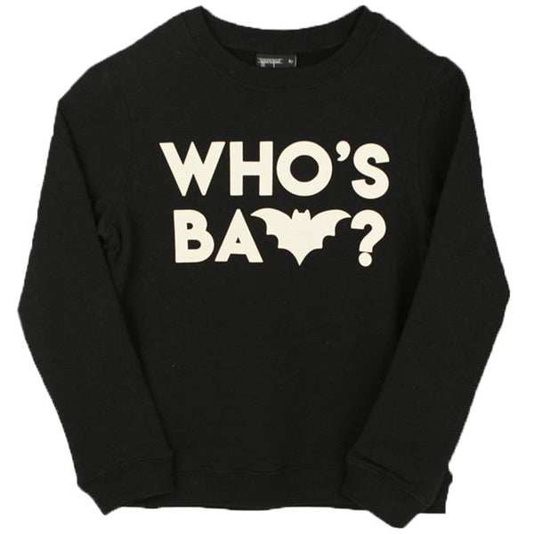 Yporque caped bat boys black sweatshirt