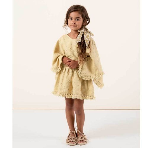 Rylee & Cru yellow linen beach cover up for girls