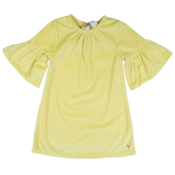 Pink Chicken yellow velour girls dress