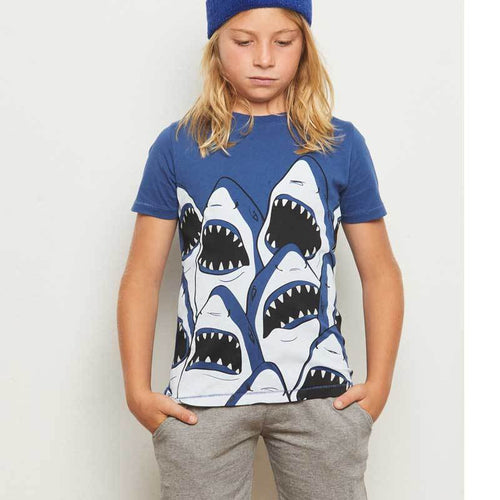 Yporque Sharks Glow in the Dark Boys Tee