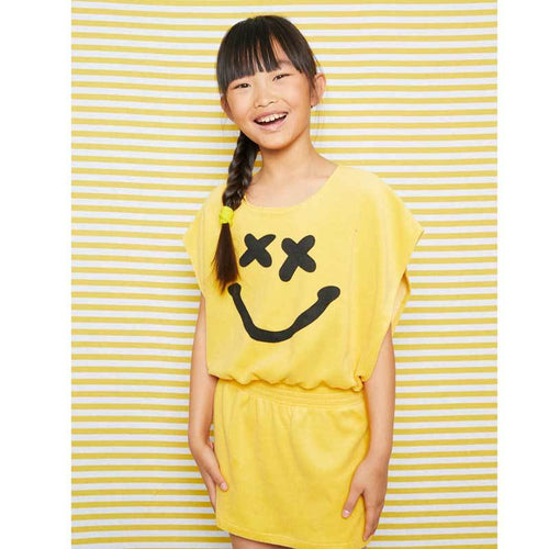 Yporque Fun Smile Terry Girls Dress