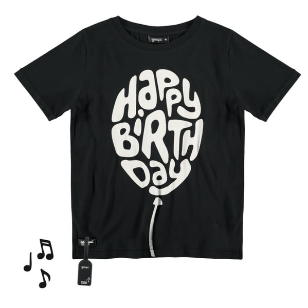 YPorque black short sleeve birthday boys t-shirt