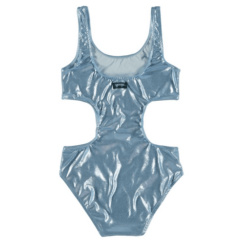 Yporque mermaid metallic cutout girls swimsuit