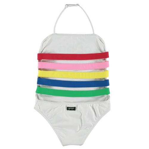 YPorque white good vibes one piece girls swimsuit