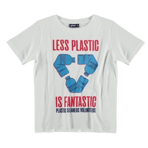 Yporque less plastic short sleeve boys graphic tee