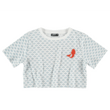 Yporque cropped short sleeve mermaid girls graphic tee