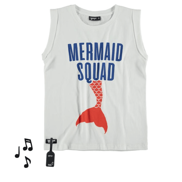 Yporque mermaid tale sleeveless girls tank top