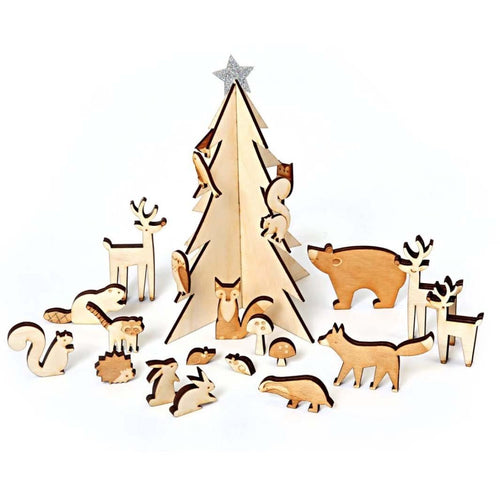 Meri Meri Wooden Animals Advent Calendar