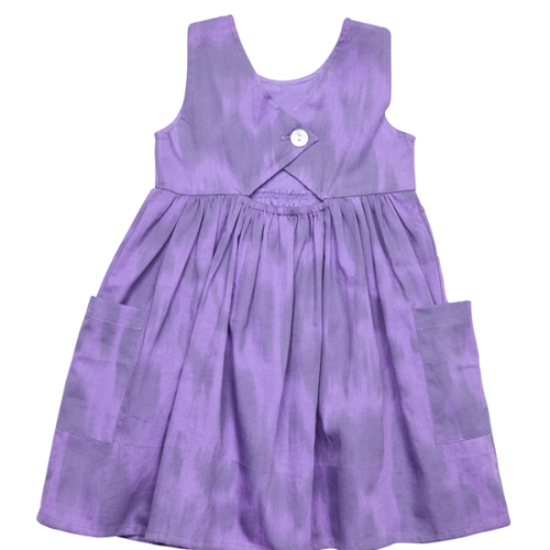 Purple Leopard Ikat Girls Dress by Pink Chicken - Little Skye Children's Boutique