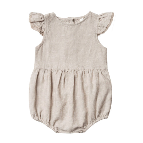 Rylee and cru grey ruffle baby girl romper