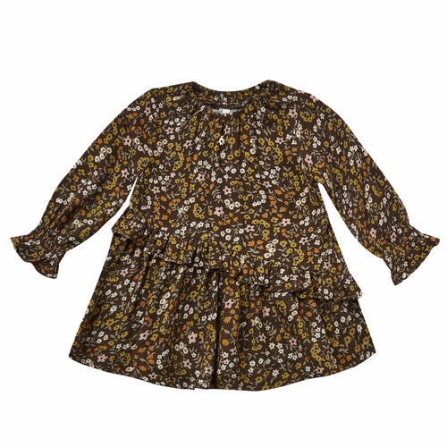 Rylee and cru floral long sleeve girls dress