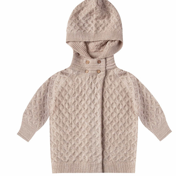 Rylee and Cru Oat Baby Sweater Baby Coat