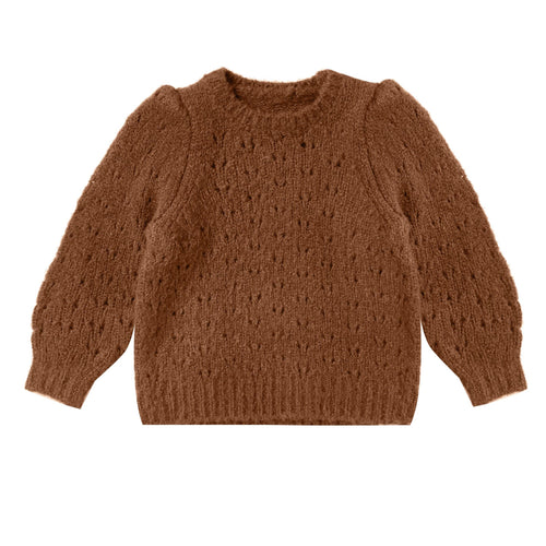 Rylee and cru brown pullover girls sweater