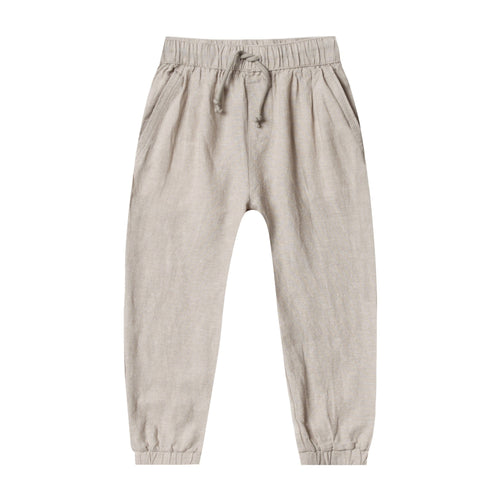 Rylee and cru grey linen drawstring boys pants