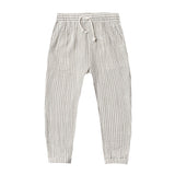 Rylee and cru green stripe summer toddler and boys pants with drawstring