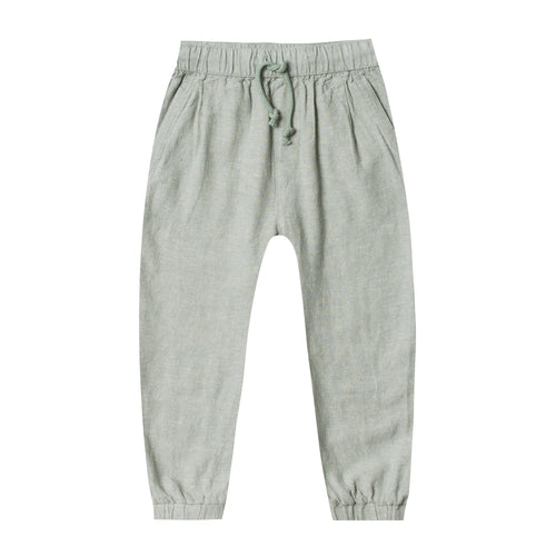 Rylee and cru green drawstring boys pants