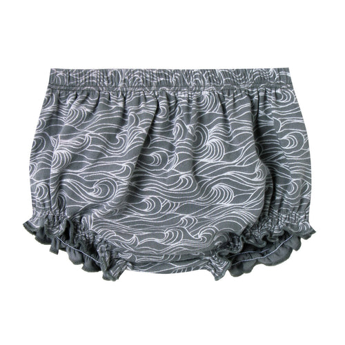 Baby girl dark blue bloomers with ocean print