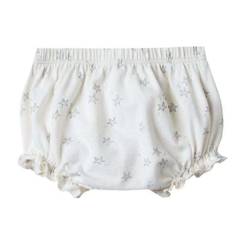 Baby girl cream bloomers with starfish print