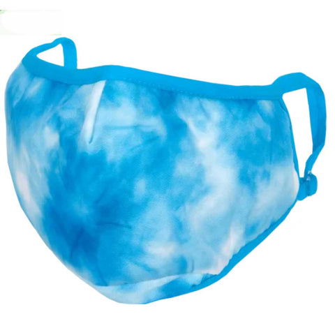iScream Sky Blue Tie Dye Face Mask - Kid Size