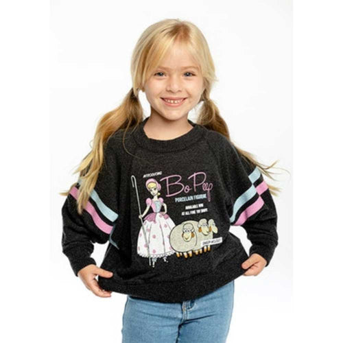 Chaser Toy Story Bo Peep Cropped Boxy Love Knit Girls Pullover