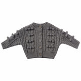 Rylee and Cru Stripe Grey Bobble Cardigan