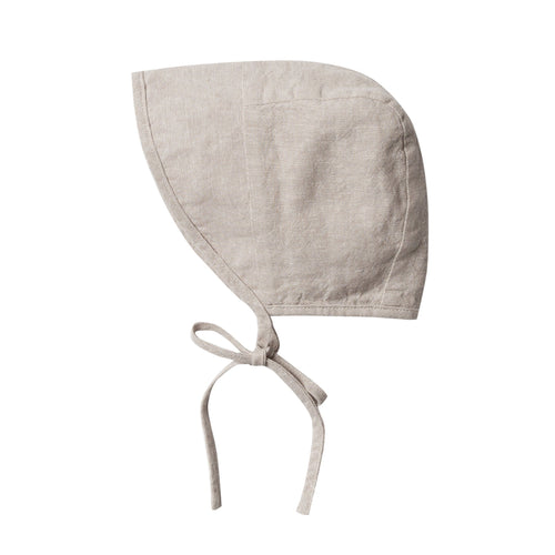 Rylee and cru grey linen baby bonnet