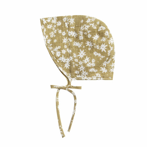 Rylee and cru daisy print baby bonnet