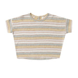 Rylee and cru natural stripe girls boxy short sleeve t shirt