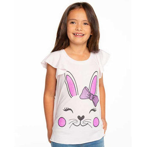 Chaser Bunny Smile Vintage Jersey Girls Tee
