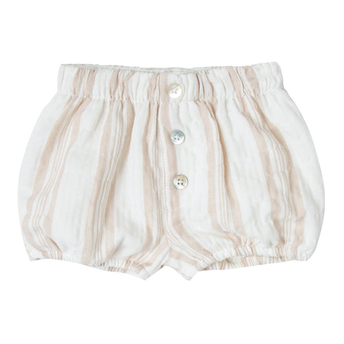 Girls tan and white stripe bubble bloomers