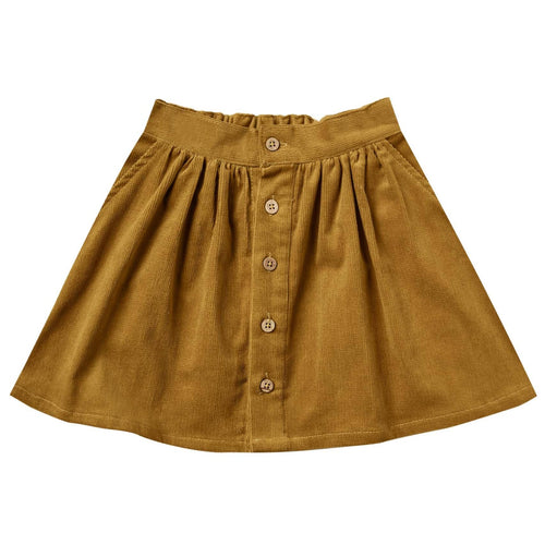 Rylee and Cru Goldenrod Button Up Girls Skirt