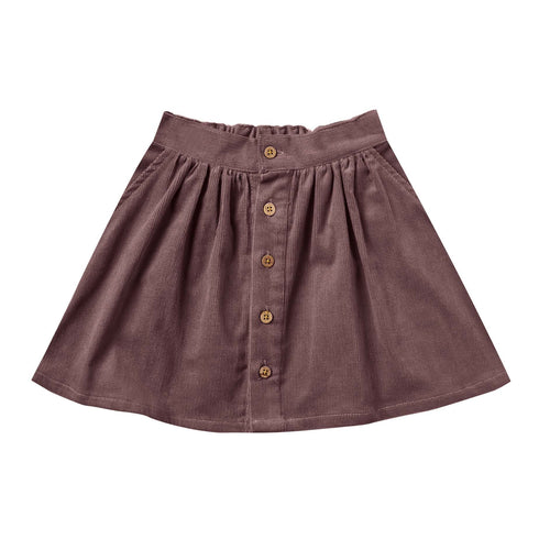 Rylee and Cru Wine Button Up Girls Skirt