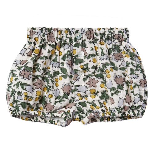 Rylee and Cru Enchanted Garden Button Baby Shorts