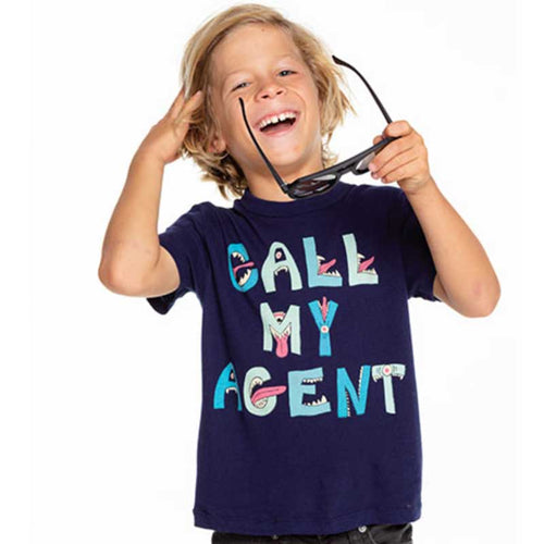 Chaser Call My Agent Gauzy Cotton Boys Tee