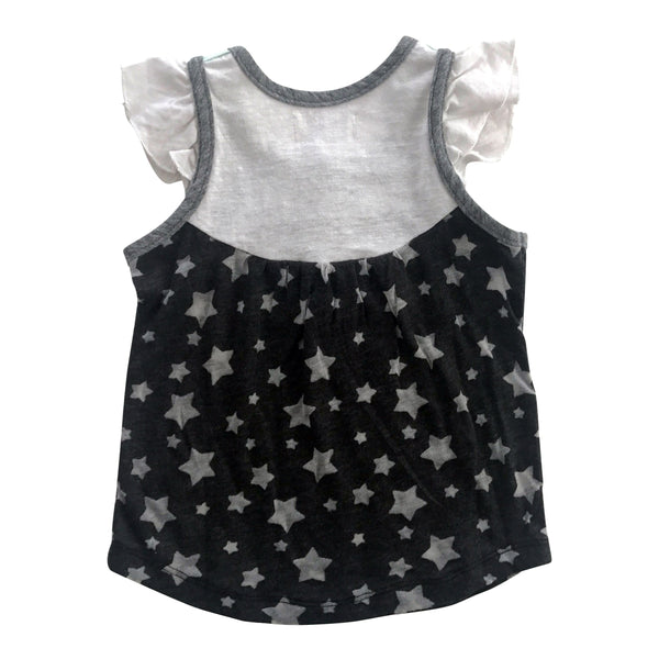 Baby girl tee with star print and flutter sleeves- Little Skye Children's Boutique