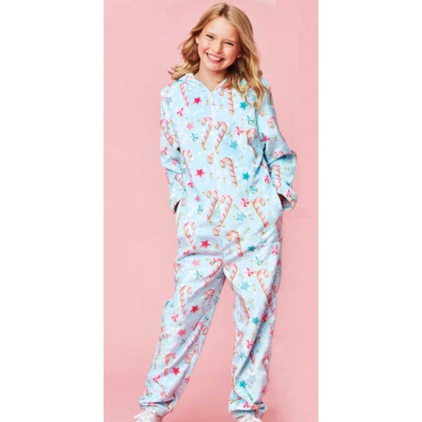 iScream Candy Cane Holiday Plush Onesie