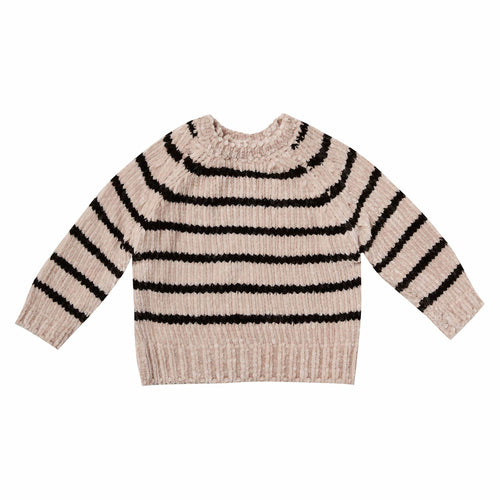 Rylee and Cru Striped Chenille Girls Sweater