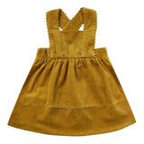Rylee and Cru Goldenrod Corduroy Girls Pinafore