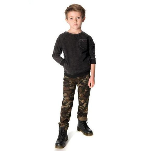 Appaman Black Covert Crew Neck - Little Skye Children's Boutique