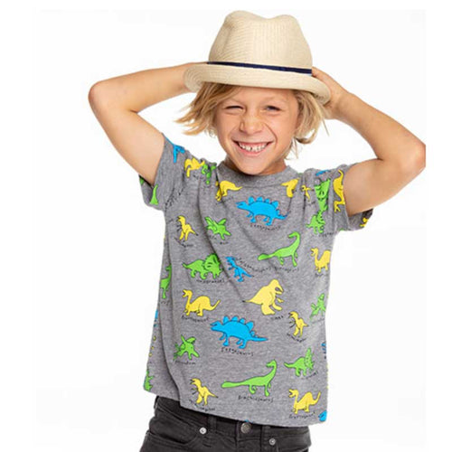 Chaser Dinos Identified Gauzy Cotton Boys Tee