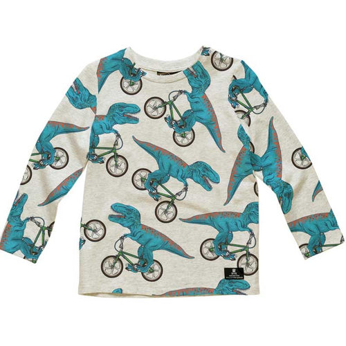 Rock Your Kid Dino Bike All Over Print Boys Tee