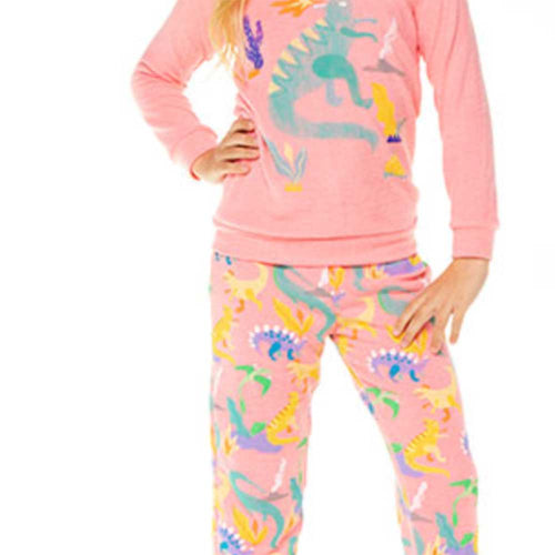 Chaser Dinosaur Love Knit Girls Sweatpants