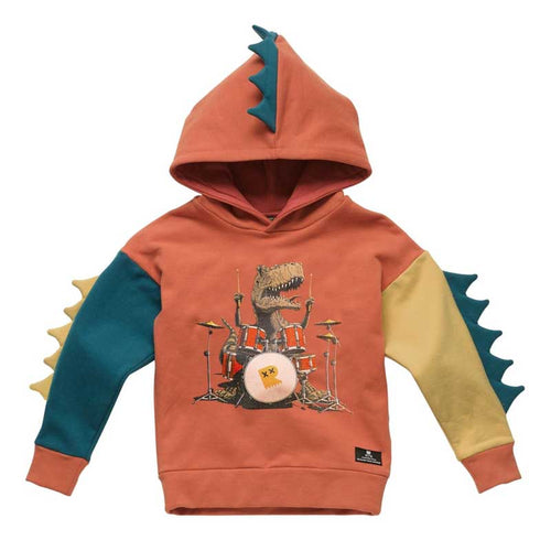 Rock Your Kid Dino Rock Hoodie