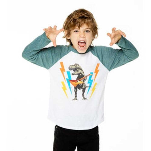 Chaser Dino Rock Long Sleeve Vintage Pocket Boys Tee