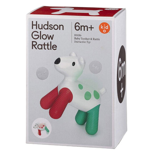 Glow rattle for babies in a dog shape