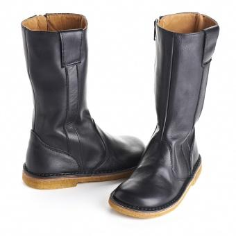 PePe Black Leather Girls Boots