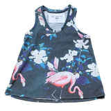 Flamingo printed girls tank top