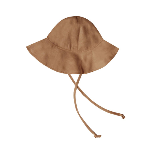 Rylee and cru brown baby sun hat